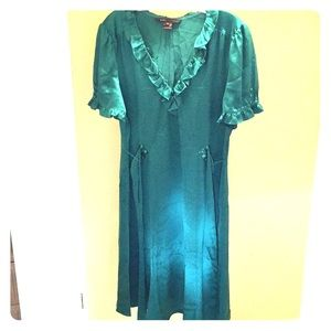 Marc Jacobs Silk Emerald Green Dress. Sz. 12.